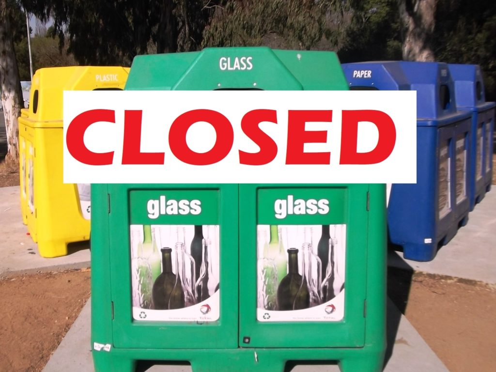 Recycling depot closed